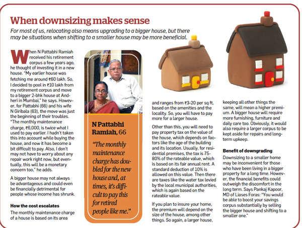 When downsizing makes sense