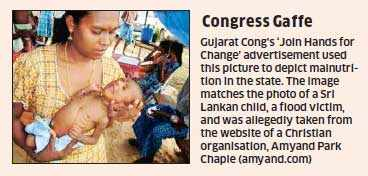 Gujarat Elections 2012: Congress uses pic of a Sri Lankan child to portray malnutrition