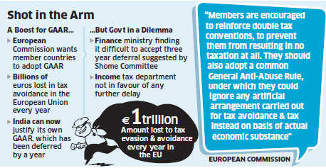 GAAR: European Union wants member states to adopt common general anti-avoidance rules