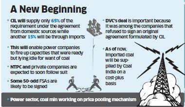 DVC deal with CIL-subsidiary Mahanadi Coalfields may power more coal FSAs