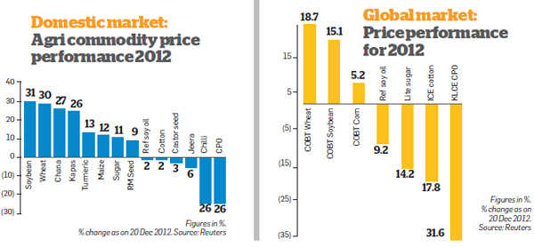 Positive outlook for agri commodities in 2013