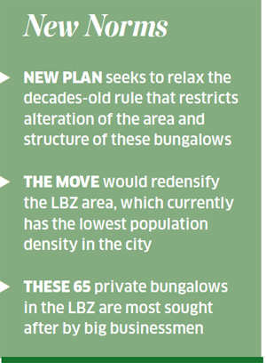 New norms for Lutyens' Bungalow Zone