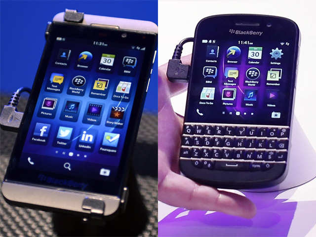 Ten key features of BlackBerry Z10 and Q10 - The Economic Times