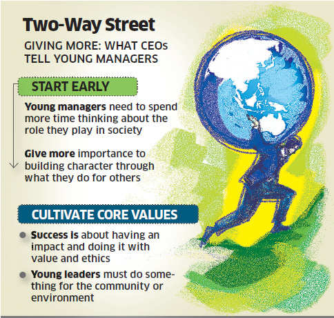 Business leaders want youngsters to make a difference to society