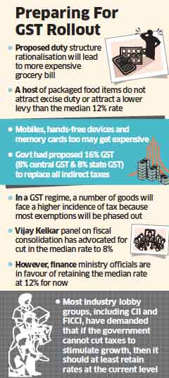The government is taking a fresh look at exemptions in excise duty and services tax this Budget to prepare the ground for the roll out of GST by December this year.