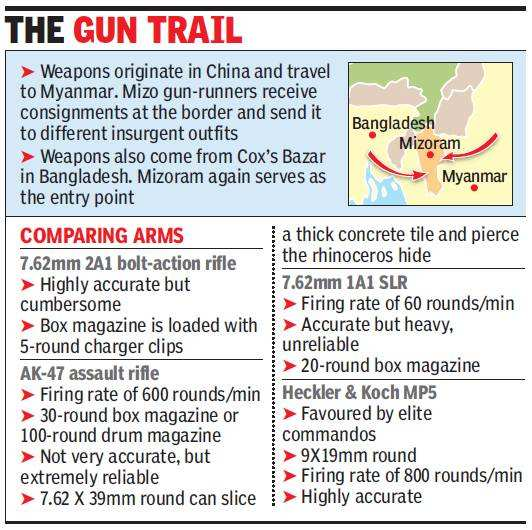 Forest guards with WW II rifles losing fight against poachers with submachine guns
