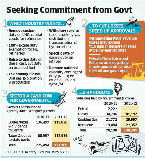Budget 2013: Treat natural gas on par with crude oil for tax exemptions