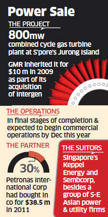 GMR wants to sell off Singapore power plant but company denies stake sale talks