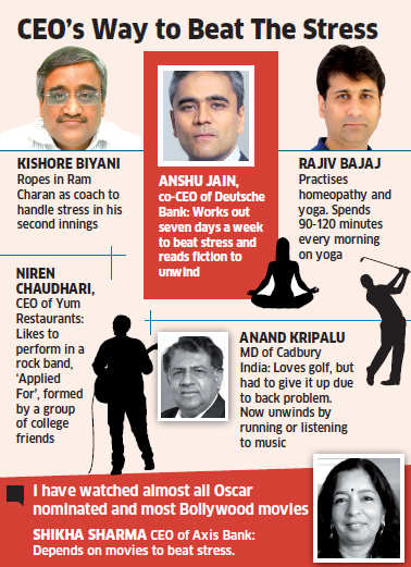 How honchos like Kishore Biyani, Adi Godrej, Anshu Jain and the likes beat stress