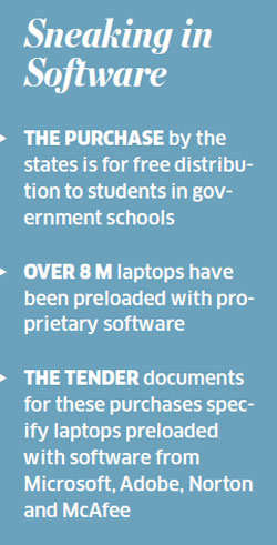 TN, UP, Rajasthan to splurge on proprietary software over open source; Microsoft Adobe, Norton and McAfee get large govt orders