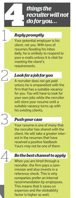4 things the recruiter will not do for you...