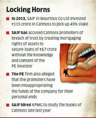 PE Fund SAIF Partners moves court; accuses Catmoss promoters of cooking books