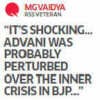 L K Advani was upset with the way his party went about anointing Modi as head of a campaign committee.