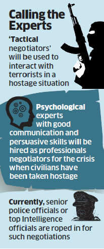 """The National Security Guards is set to bring on board """"tactical negotiators"""" who can be used by the agency to interact with terrorists in a hostage situation."""