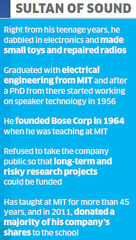 Amar Bose, inventor of the world-famous Bose audio systems, is no more
