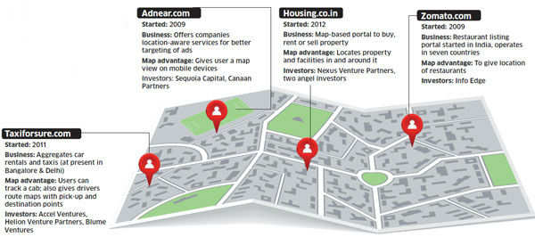 Start-ups Locate Business On Maps