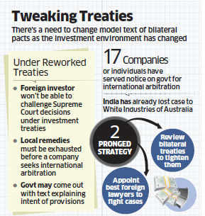 Government to draft model treaty on MNCs' mediation rush