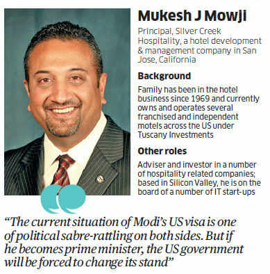 Currently, the US government is steering clear of controversy by putting the ball in Modi's court and saying that it will consider his visa issue only when he applies again for one.