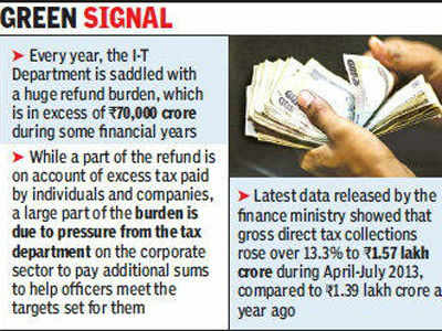 Government resumes I-T refunds of up to Rs 50, 000