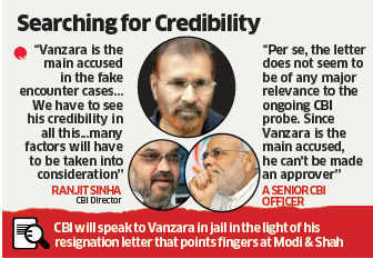 CBI would have to check DG Vanzara's credibility: Ranjit Sinha