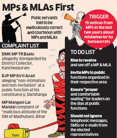 Public servants told to show respect to MPs after 15 parliamentarians complain of misbehaviour