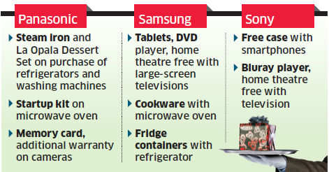 Consumer electronic companies like Samsung, LG line up freebies this festive season