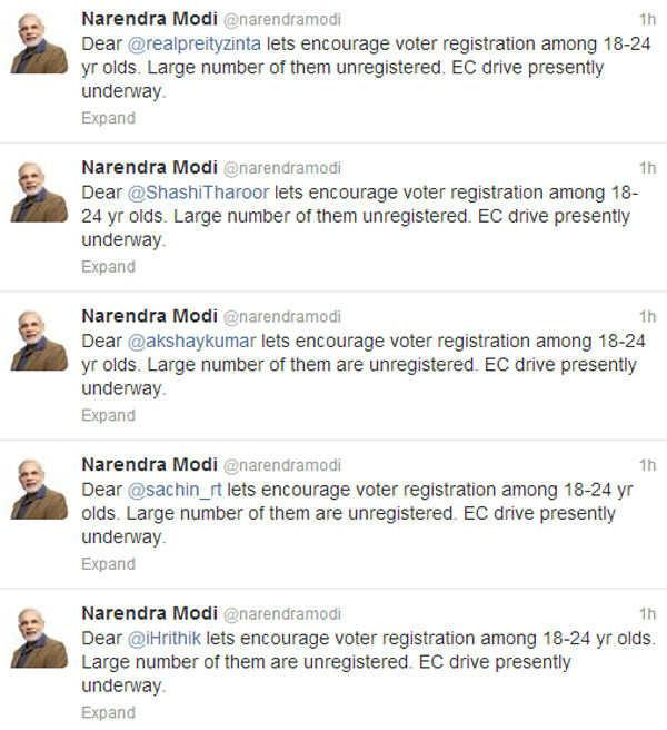Modi's tweets