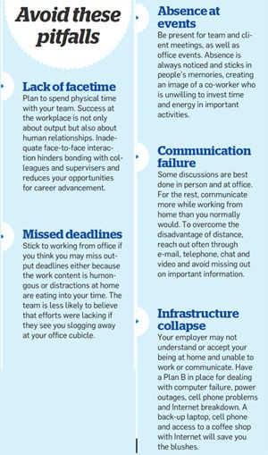 Work from home: Avoid these pitfalls