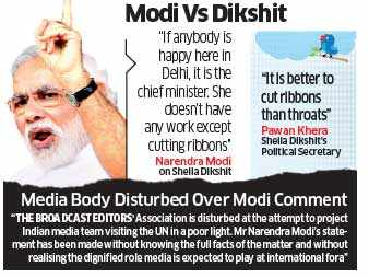 Narendra Modi lambasts Sharif over remark on Manmohan, but statement on scribes creates controversy