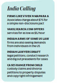 Middle class americans reach out to lawyers in India via internet for legal aid