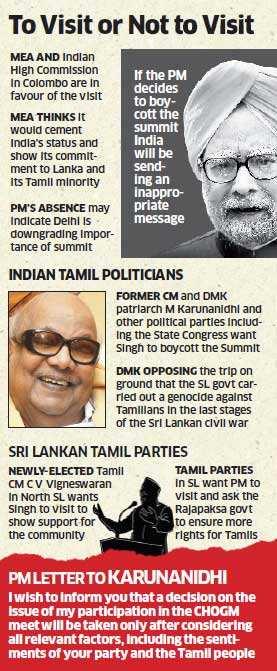 Political tug-of-war over Prime Minister Manmohan Singh's Sri Lanka trip
