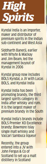 As brand director of brandy major Kyndal, Pushpanjali Banerji is on a mission to change the perception about the liquor industry in India