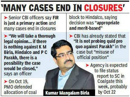 CBI mulls option of closing Coalgate case against Kumar Mangalam Birla