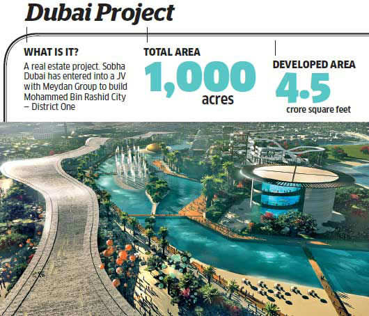 The Palakkad project will benefit 2,500 poor families and the Dubai project will build 1,500 luxury residences.