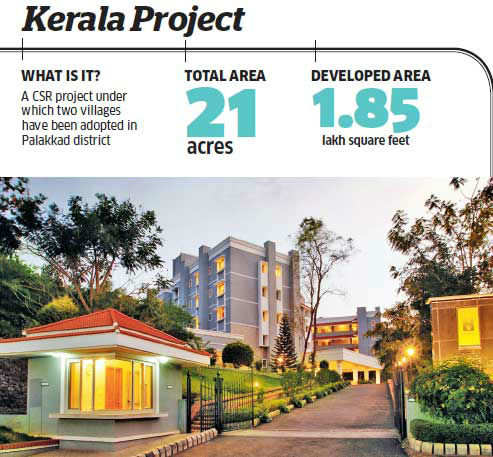It essentially comprises an old-age home and a school for the children of the poorest of the poor in the Vadakkancherry and Kizakkancherry panchayats in Palakkad.