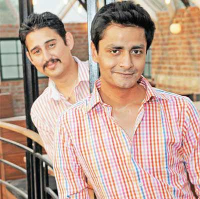 Chef Manu Chandra (front) & his partner Chetan Rampal