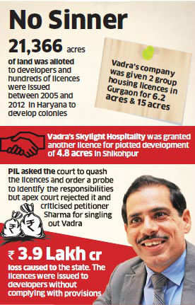 SC rejects probe into Robert Vadra land deal, asks petitioner not to use PIL for cheap publicity
