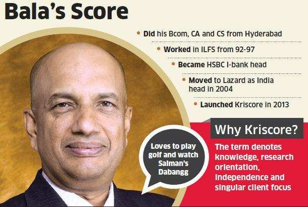 Balakrishnan, Lazard India's ex-chief, says his new firm's biz model will be based on advisory service & pvt equity.