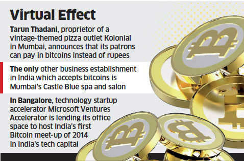 From eatery to meetup, entrepreneurs increasingly accepting 'bitcoins' in India