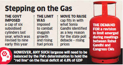Government to raise limit of subsidised LPG cylinders from 9 to 12