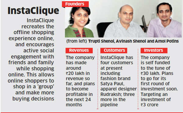 InstaClique's technology allows online shoppers discuss with peers before buying