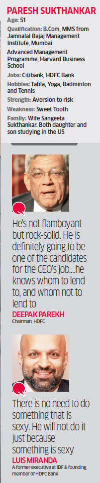 Paresh Sukthankar succeeding Aditya Puri as HDFC Bank CEO will give shareholders a reason to cheer