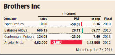 Younger brothers of Lakshmi Mittal, Pramod and Vinod, going