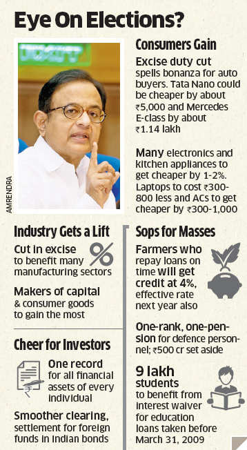 Finance Minister P Chidambaram opened up an unexpected fourmonth window of lower excise duties that could bring down prices of SUVs by Rs 37,000.