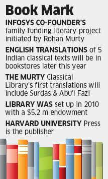 Narayana Murthy funding translation of Indian classics by Harvard