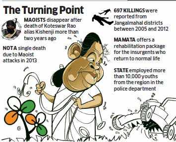 TMC sees boost to Lok  Sabha tally as peace returns to naxal belt