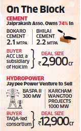 Jaiprakash Associates in talks with Holcim-owned ACC to sell 74% stake in SAIL JVs for Rs 2,900 crore