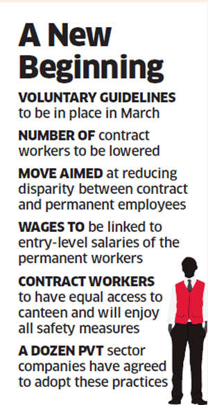 Tata, Mahindra group, Cummins India & others part of government's initiative to give better deal to contract workers