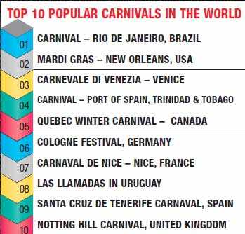 Enjoy the best of fests & carnivals around the world