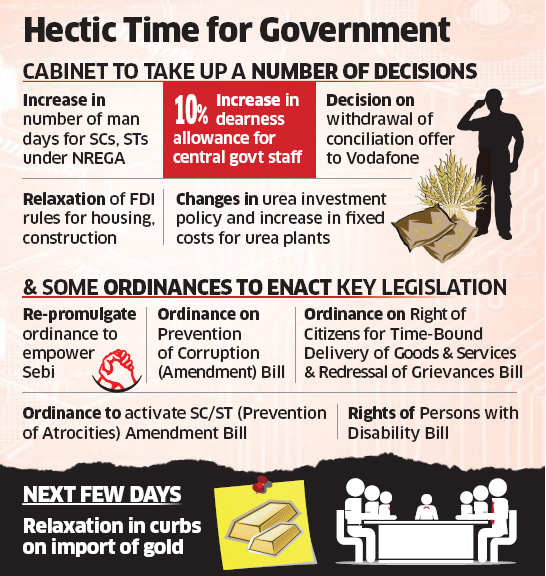 Cabinet, CCEA to get busy before poll code kicks in